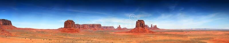 Südwestpanorama des Monument-Tales lizenzfreies stockbild