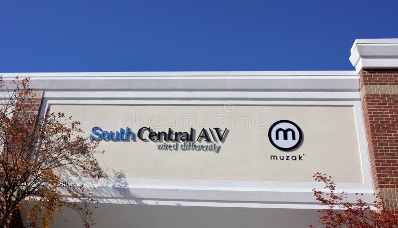 Südzentrale-Handelsfahne, Memphis, TN lizenzfreies stockfoto