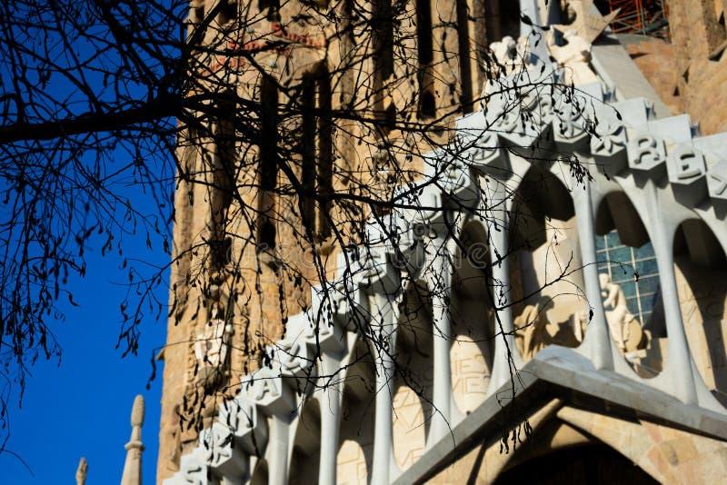 Sühnende Kirche des heiligen Familie Templo Expiatorio De-La Sagrada Familia stockbilder