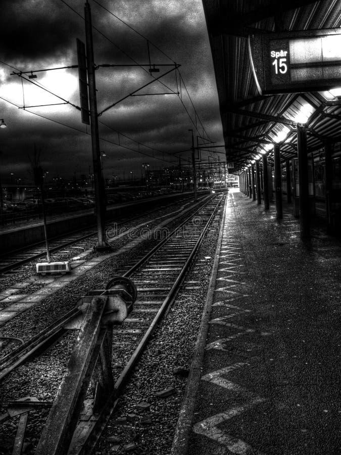 Sündenstadtstation stockfoto