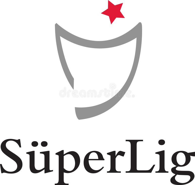 Turkish Super League icon logo. The Süper Lig is a Turkish professional league for association football clubs. It is the top-flight of the Turkish football vector illustration