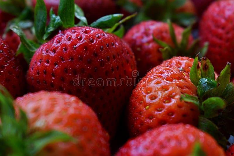 Süsse von Erdbeeren stockbild