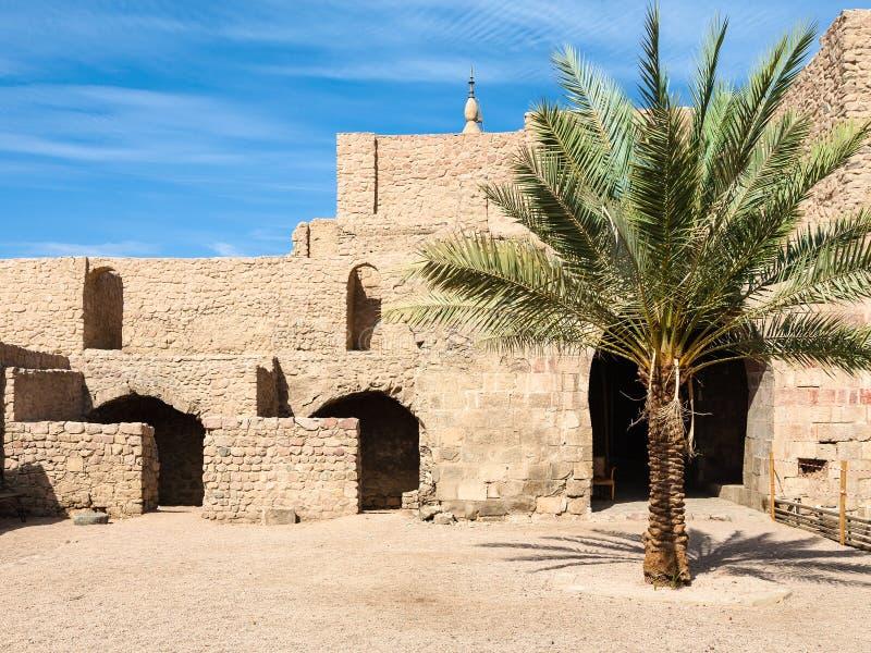 Sąd Aqaba kasztel w zima sezonie zdjęcie royalty free