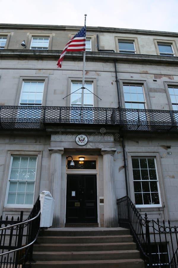 sąd d s c najwyższy u Washington S Konsulat Generalny w Edynburg, Szkocja obraz stock
