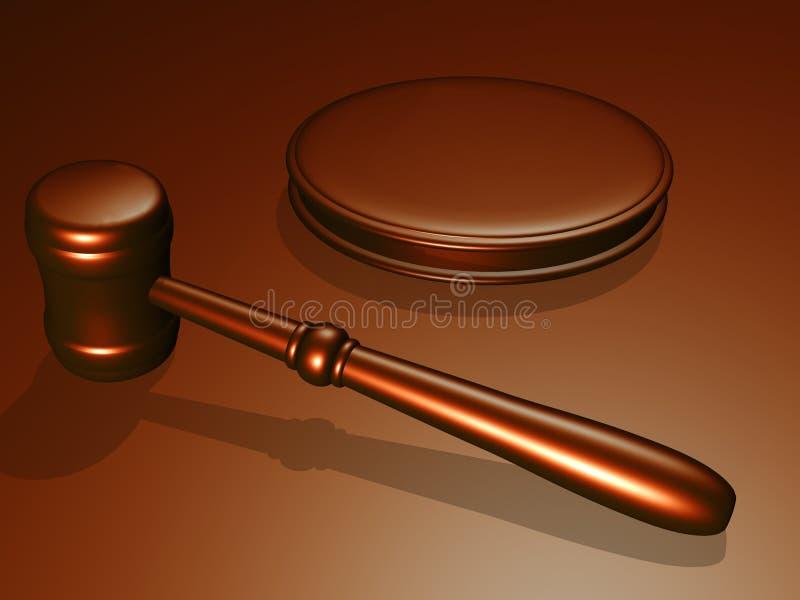 sąd gavelu drewna ilustracja wektor
