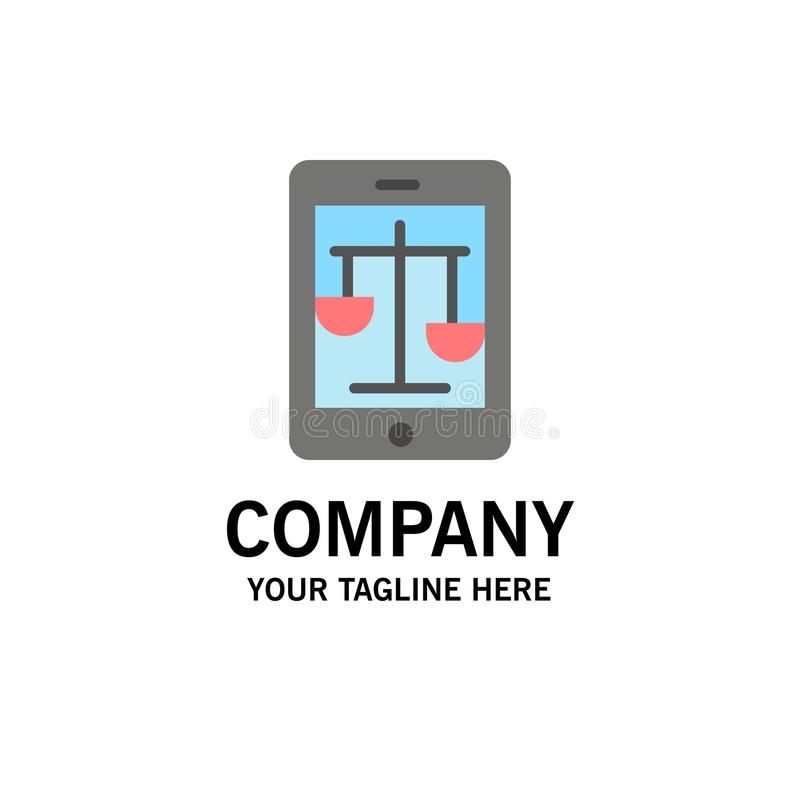 Sąd, internet, prawo, Legalny, Online Biznesowy logo szablon, p?aski kolor royalty ilustracja
