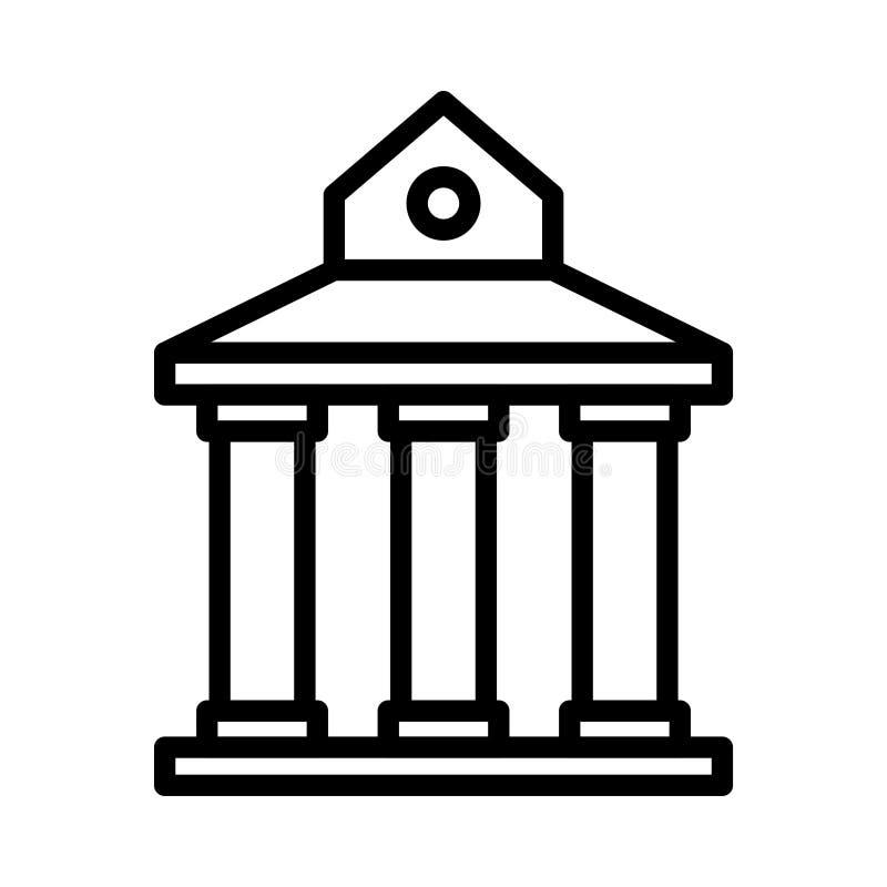 Sąd linii linii wektoru cienka ikona royalty ilustracja