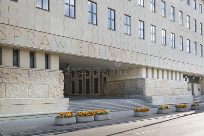Sąd lokalny dla Warszawskiego miasta, Polska zdjęcia royalty free