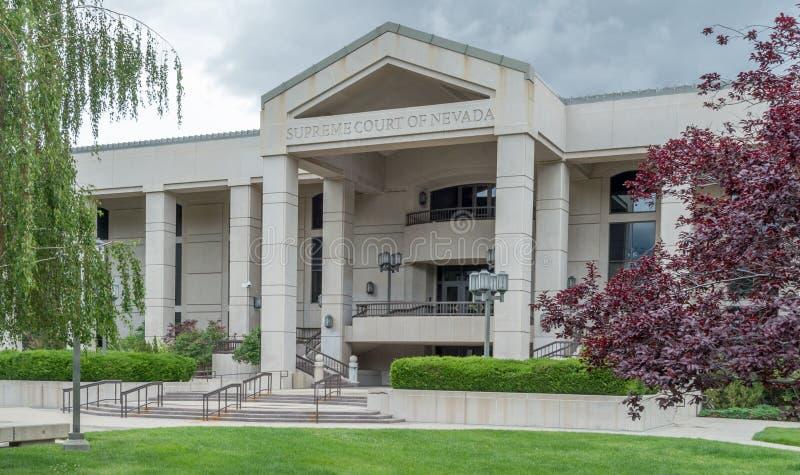 Sąd Najwyższy Nevada w Carson mieście fotografia royalty free