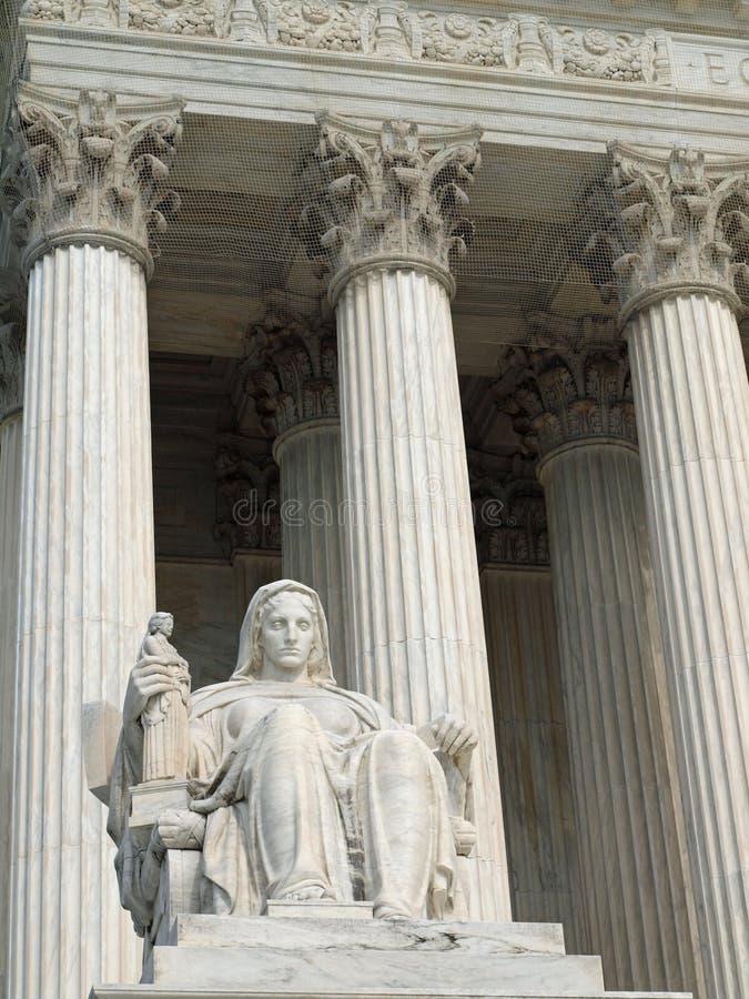 sąd twierdzić najwyższy zlanego obraz stock