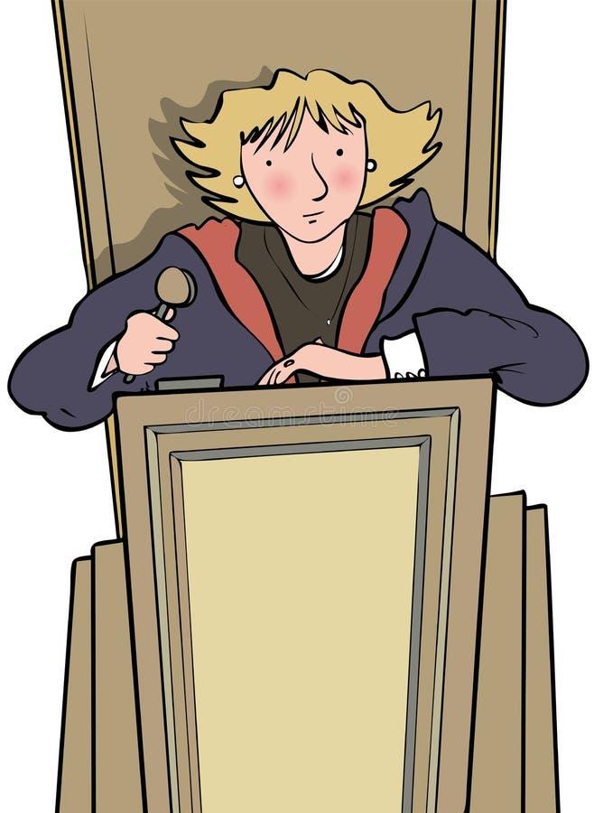 sądzący royalty ilustracja