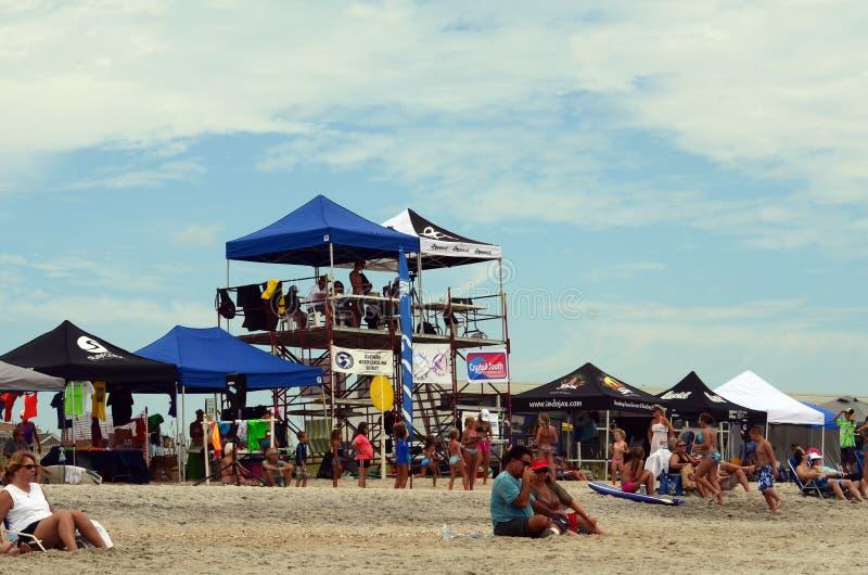 Sądzić wycieczka turysyczna namiotów Wahine kipieli konkurs obraz royalty free