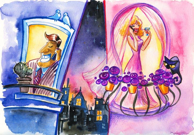 sąsiad royalty ilustracja