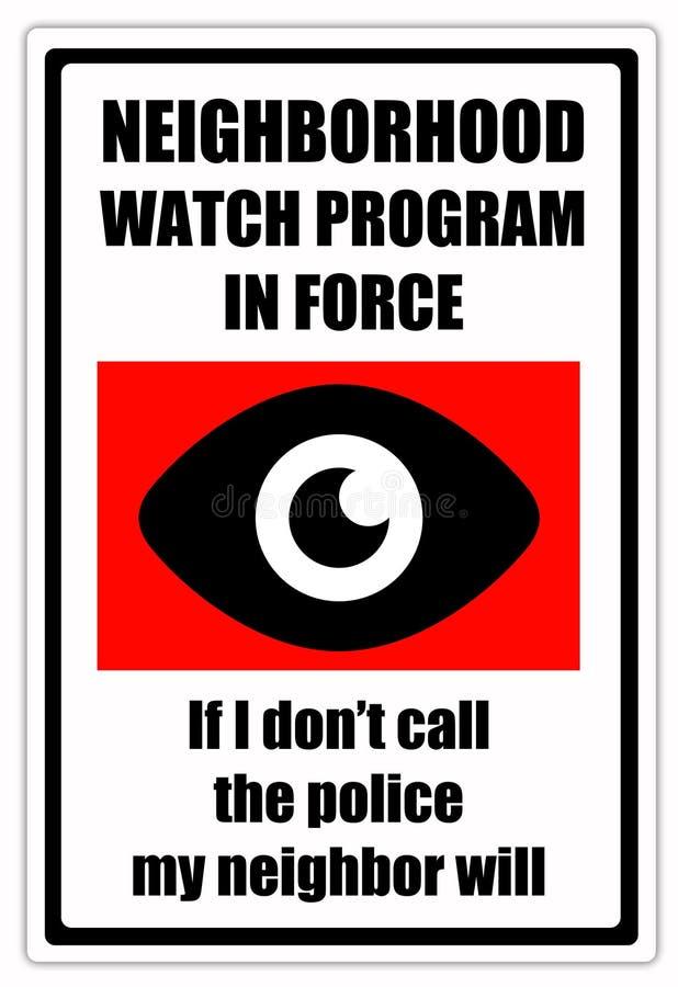 Sąsiad patrol ilustracja wektor