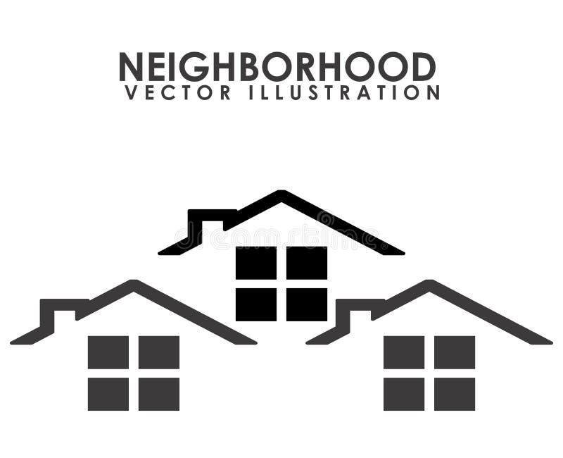 sąsiedztwo ilustracja wektor