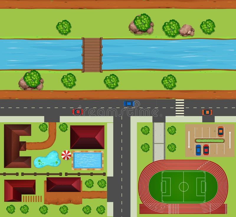 sąsiedztwo royalty ilustracja