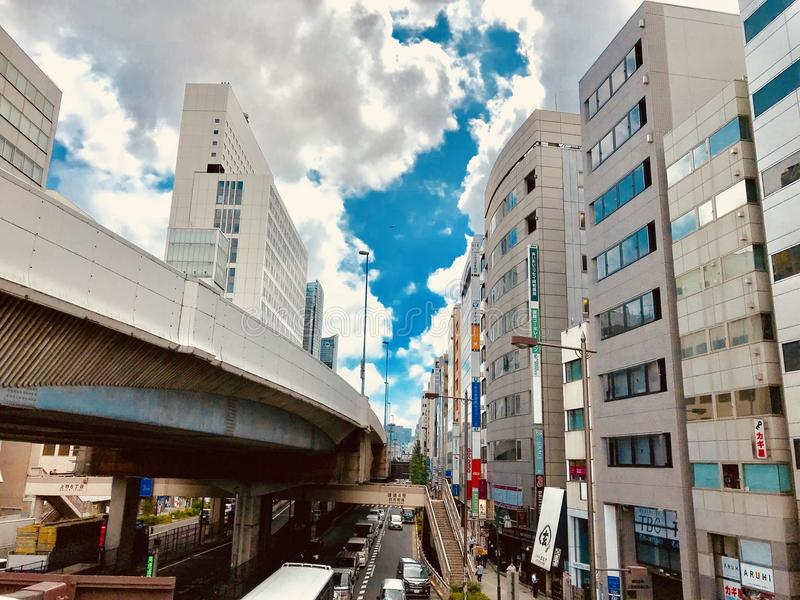 Sąsiedztwo blisko Japonia ` s Ueno staci zdjęcie stock