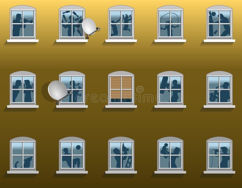 Sąsiedztwo hałas ilustracja wektor
