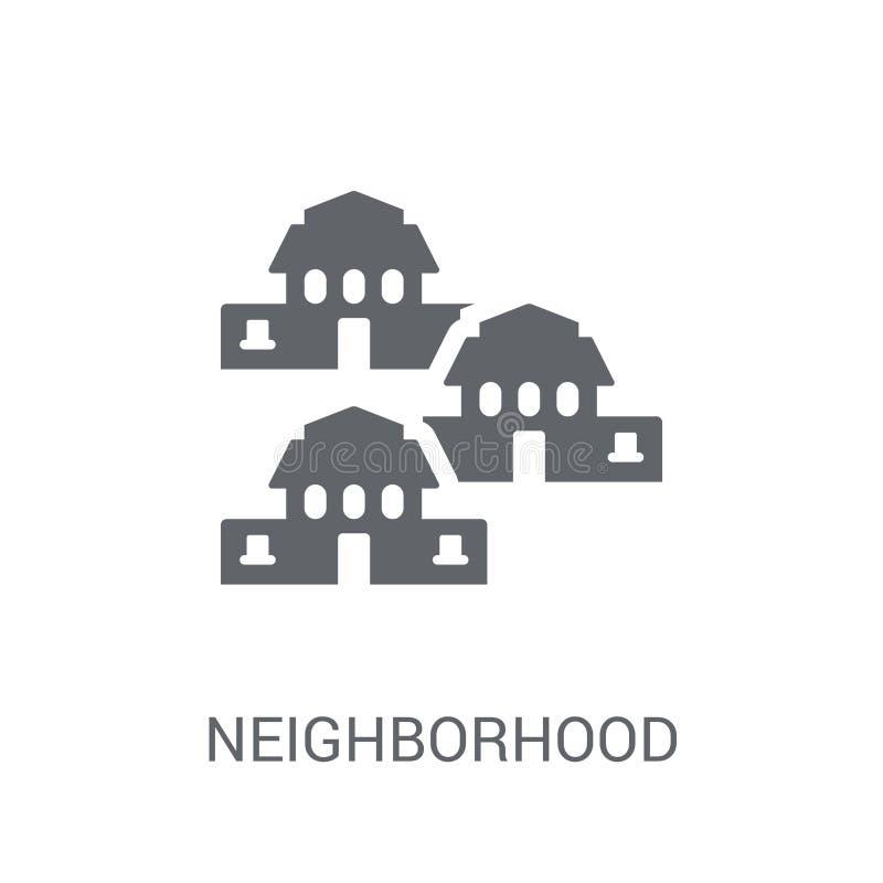 Sąsiedztwo ikona  royalty ilustracja
