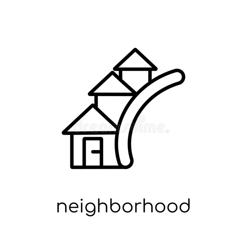 Sąsiedztwo ikona od nieruchomości kolekcji ilustracji
