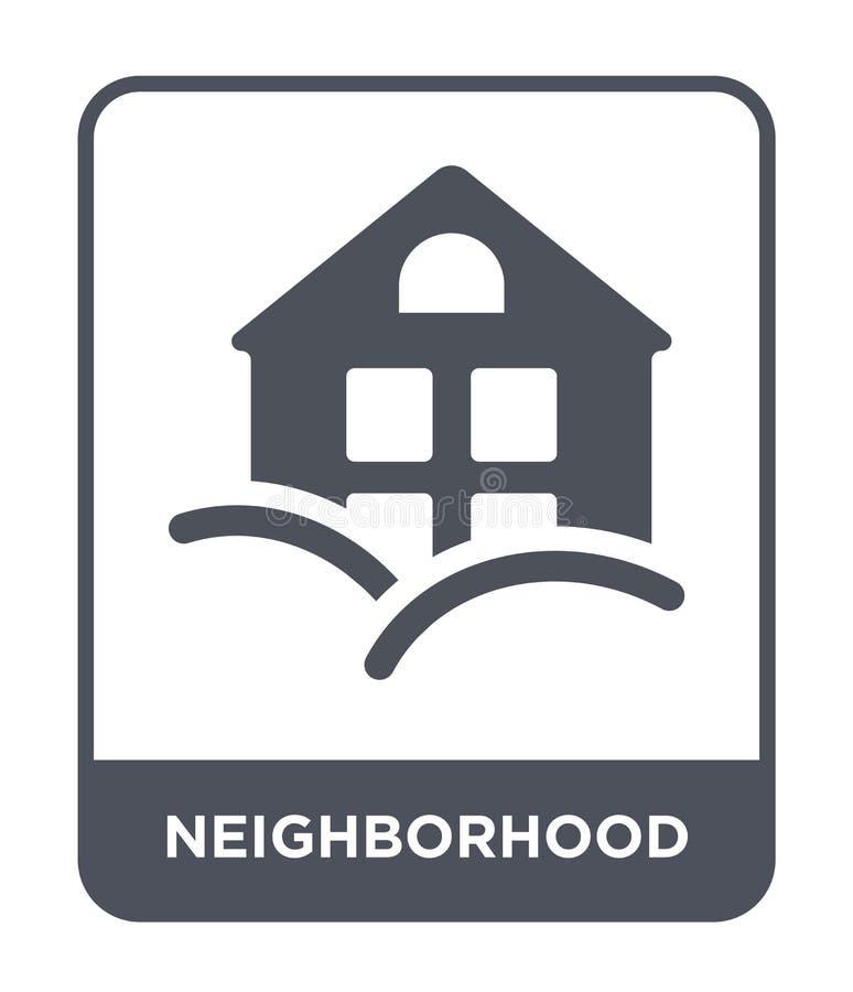 sąsiedztwo ikona w modnym projekta stylu sąsiedztwo ikona odizolowywająca na białym tle sąsiedztwo wektorowa ikona prosta i ilustracji