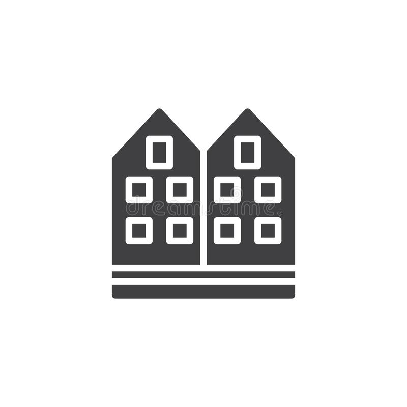 Sąsiedztwo ikony domowy wektor ilustracja wektor