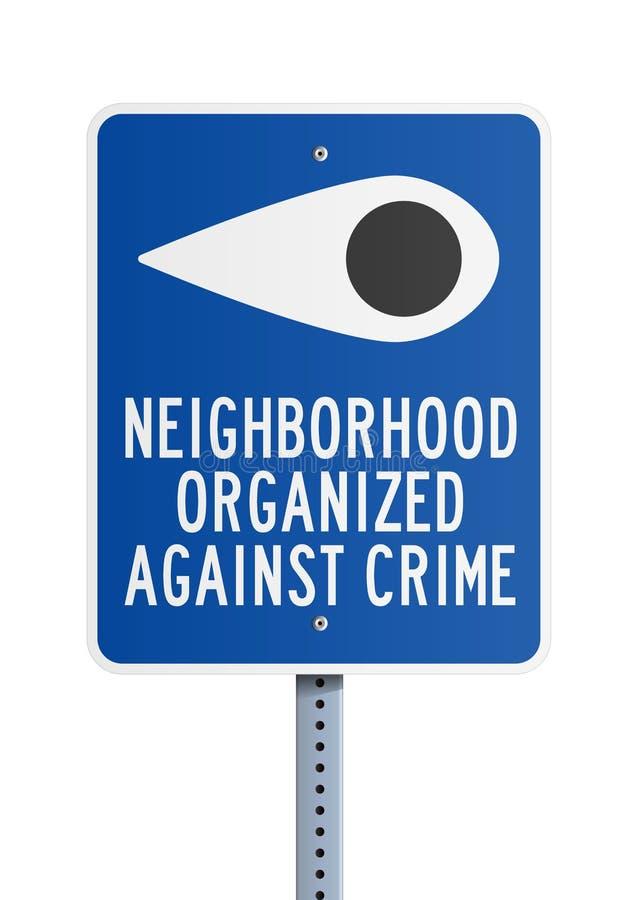Sąsiedztwo przeciw przestępstwu ilustracja wektor