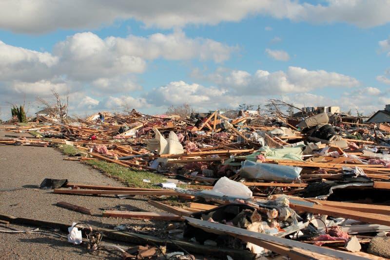 Sąsiedztwo Z tornado szkodą 2013 zdjęcia stock