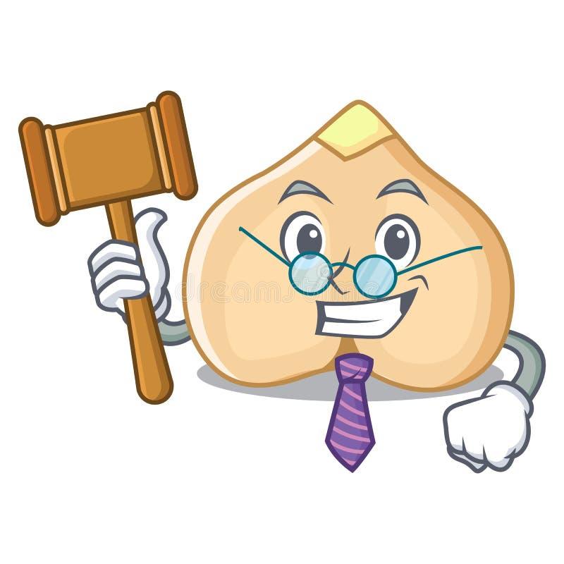 Sędziów chickpeas maskotki kreskówki styl ilustracja wektor