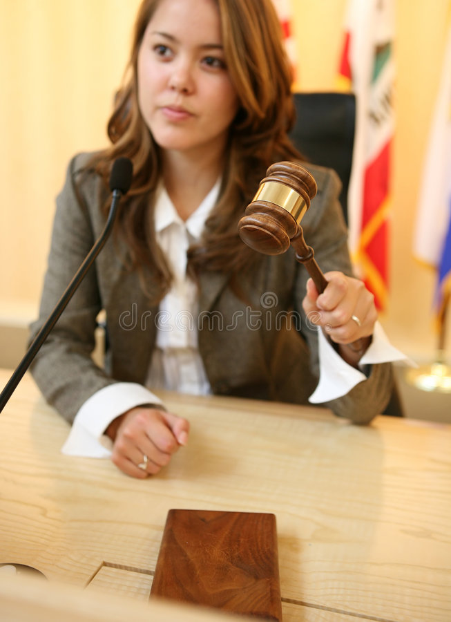sędzia młoteczka krzesanie skup się zdjęcie stock