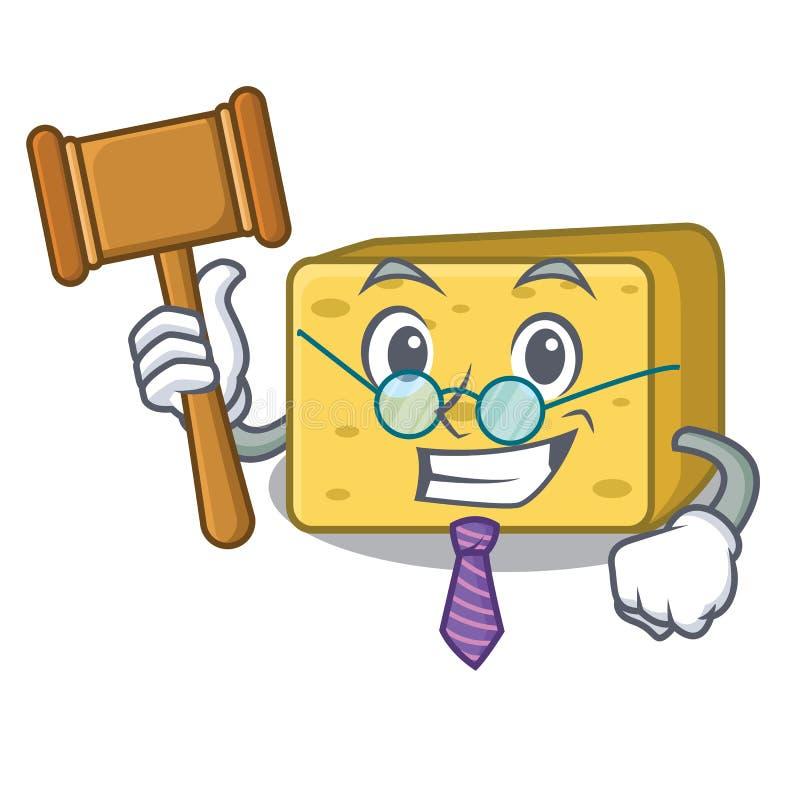 Sędziego gouda sera maskotki kreskówka ilustracji