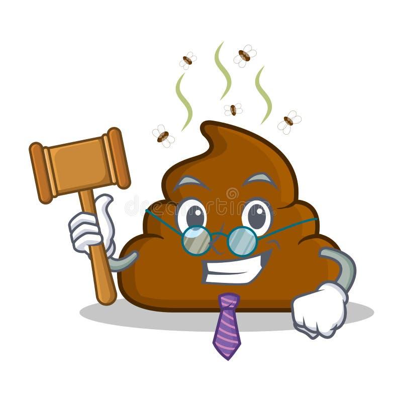 Sędziego kaku emoticon charakteru kreskówka ilustracja wektor