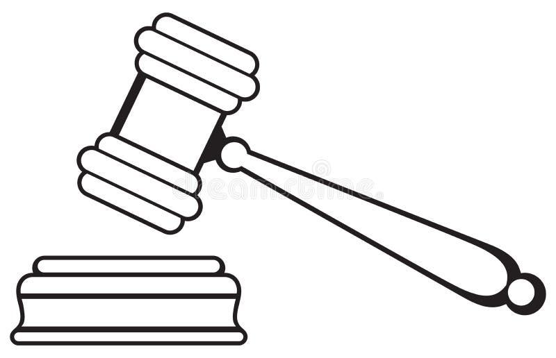 Sędziego młoteczek royalty ilustracja