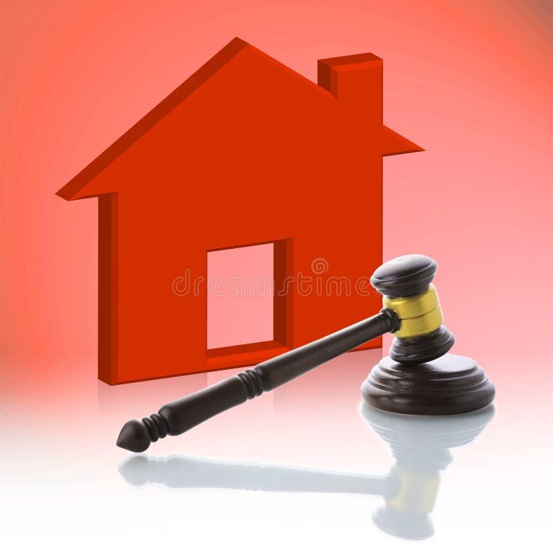 Sędziego młoteczek, Real Estate Licytuje royalty ilustracja
