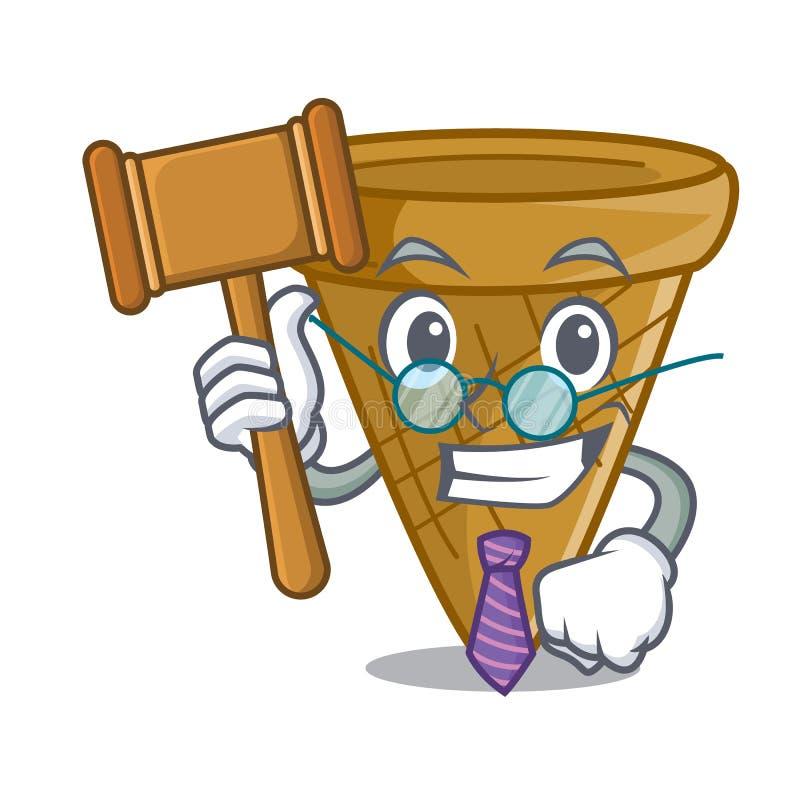 Sędziego opłatka słodki rożek odizolowywający na maskot ilustracji
