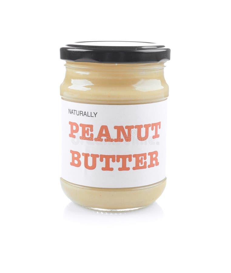 Słój z masłem orzechowym fotografia stock