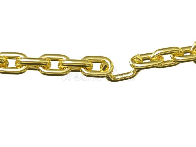 Słaby Punkt - złoto royalty ilustracja
