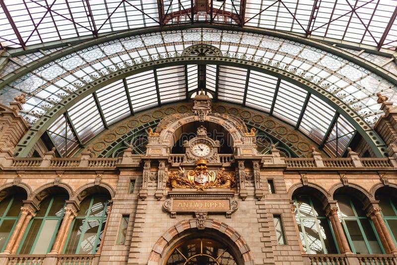 sławna Antwerpen stacja zdjęcia royalty free