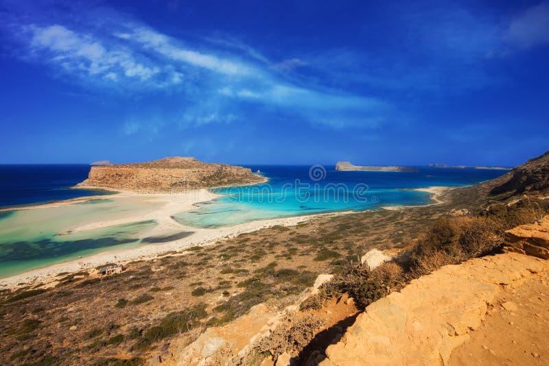 Sławna Balos laguna na Crete wyspie zdjęcia royalty free