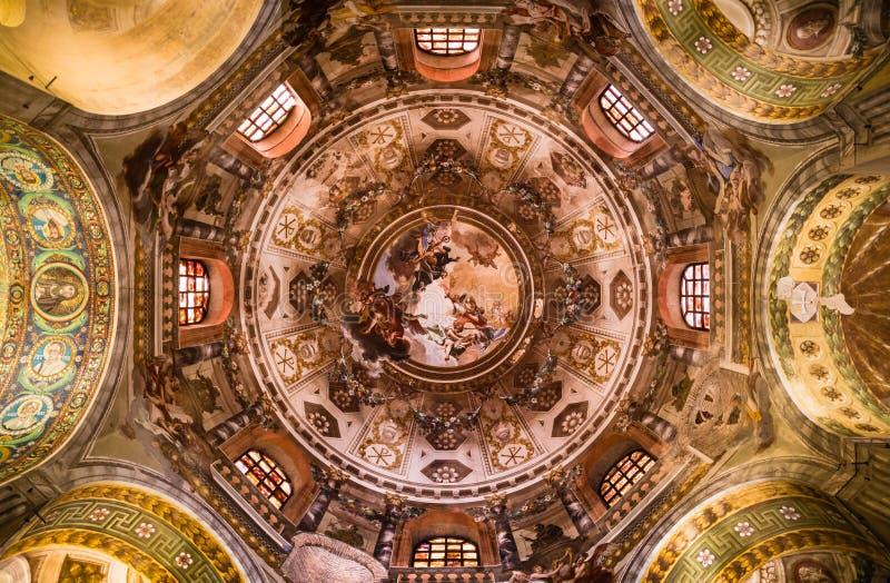 Sławna bazylika Di San Vitale w Ravenna, Włochy fotografia stock