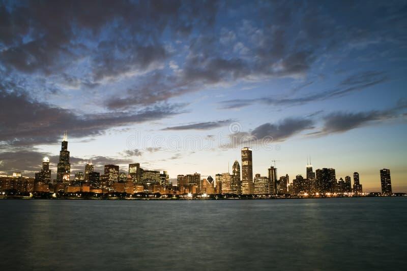 sławna Chicago linia horyzontu obrazy royalty free