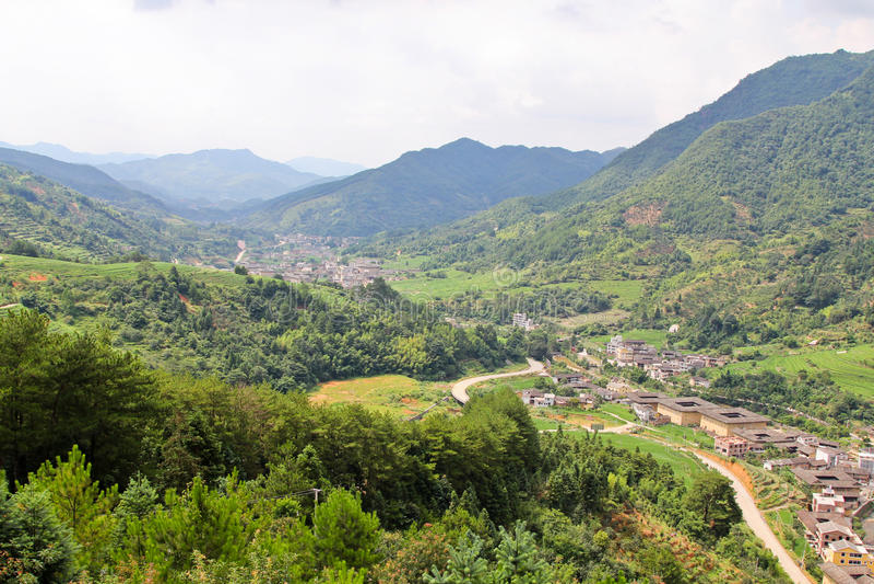 Sławna dolina z tradycyjnymi wioskami obrazy stock