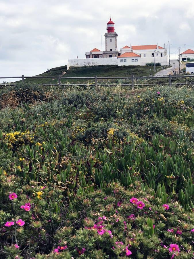 Sławna i malownicza latarnia morska Cabo da Roca obraz stock