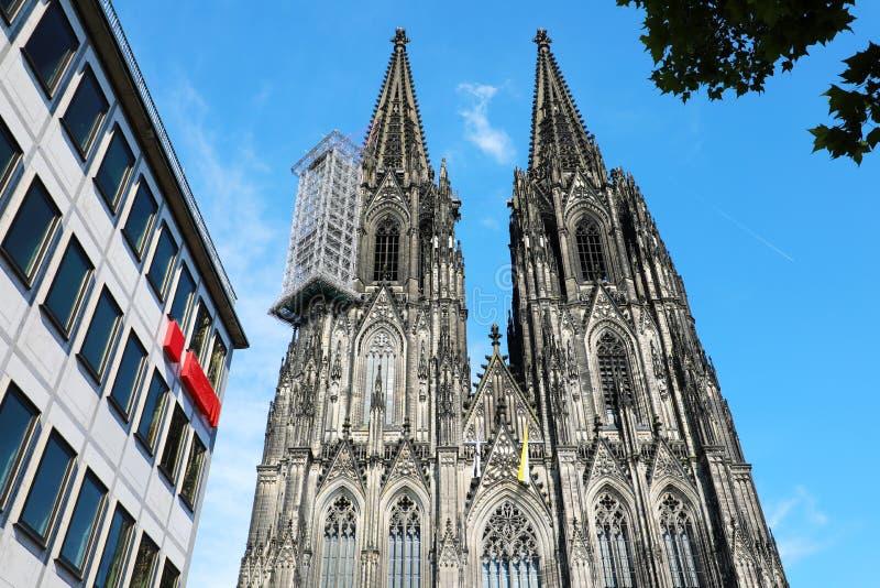 Sławna katedra w centrum Kolonia, Niemcy, Europa obraz royalty free