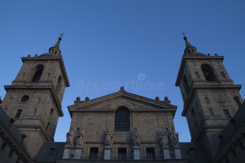 Sławna katedra w Escorial. fotografia royalty free