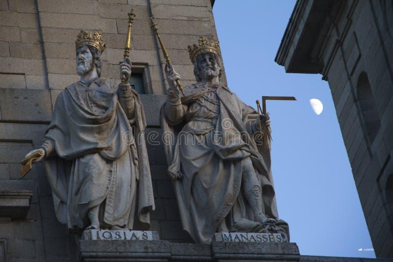 Sławna katedra w Escorial. obraz royalty free
