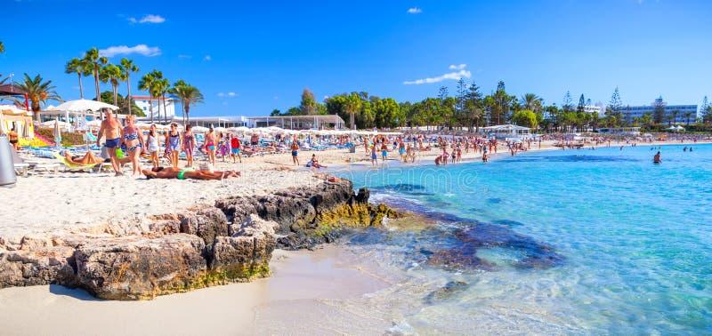 Sławna Nissi plaża obraz stock