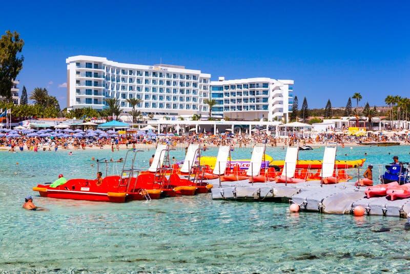 Sławna Nissi plaża obrazy royalty free