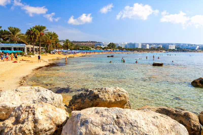 Sławna Pantachou plaża zdjęcie stock