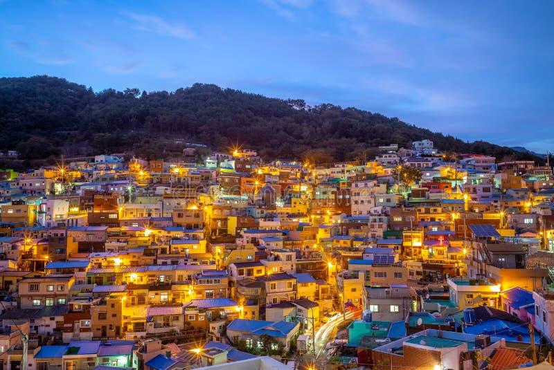 Sławna przyciągania Gamcheon kultury wioska, Korea zdjęcie stock